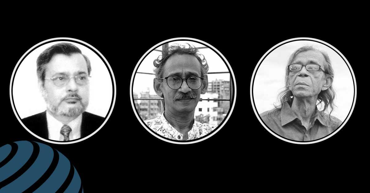 সকাল-দুপুর-সন্ধ্যায় তিন লেখকের চিরবিদায়