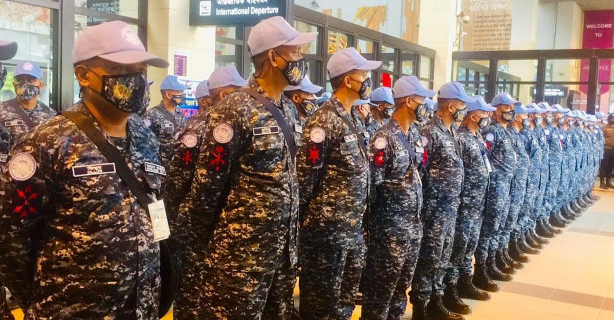 শান্তিরক্ষা মিশনে লেবানন গেলেন নৌবাহিনীর ৭৫ সদস্য
